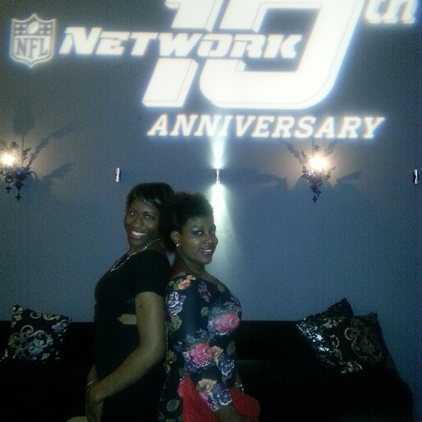 Lis sis was my date at the NFL holiday party
