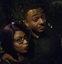"With star RonReaco Lee at the ""Survivor's Remorse"" premiere party"